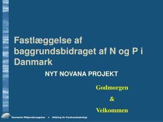 Fastlæggelse af baggrundsbidraget af N og P i Danmark