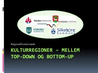 Kulturregioner – mellem  top-down  og  Bottom-Up