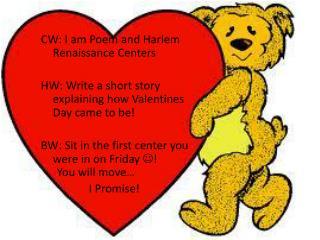 CW: I am Poem and Harlem Renaissance Centers