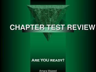 Are YOU ready? Amara Majeed