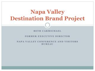 Napa Valley Destination Brand Project