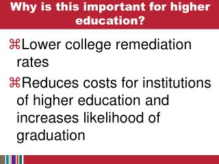 Why is this important for higher education?