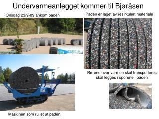 Undervarmeanlegget kommer til Bjøråsen