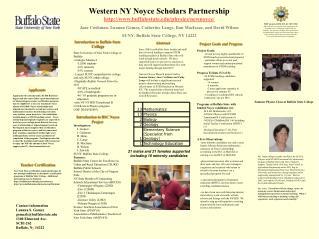 Western NY Noyce Scholars Partnership buffalostate/physics/newnoyce/