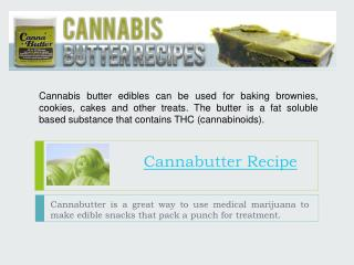 Cannabis Butter Recipes
