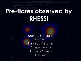 Pre-flares observed by RHESSI