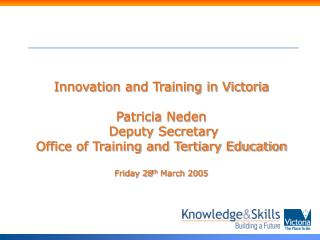 Innovation and Training