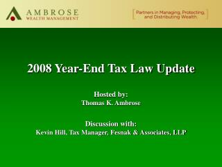 2008 Year-End Tax Law Update