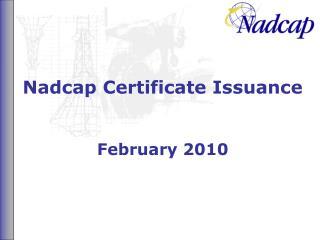 Nadcap Certificate Issuance