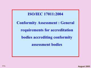 ISO/IEC 17011:2004
