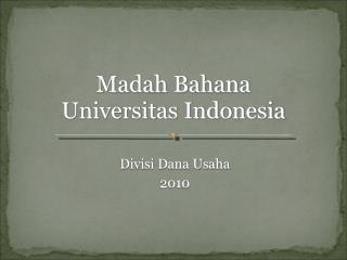 Divisi Dana Usaha 2010