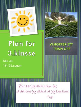 Plan for 3.klasse