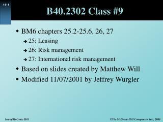 B40.2302 Class #9