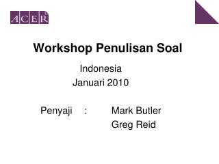 Workshop Penulisan Soal