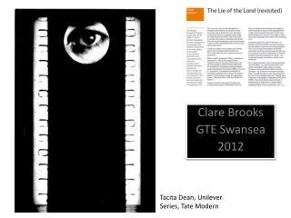 Clare Brooks GTE Swansea 2012