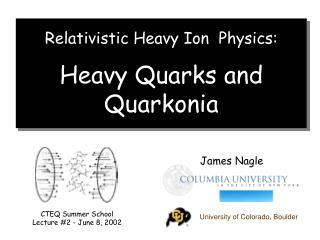 Relativistic Heavy Ion  Physics: Heavy Quarks and  Quarkonia