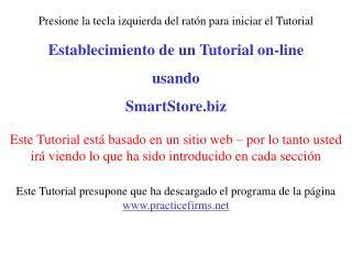 Establecimiento de un Tutorial on-line usando SmartStore