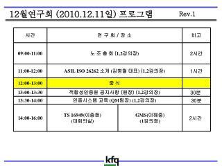 12 월연구회  (2010.12.11 일 )  프로그램