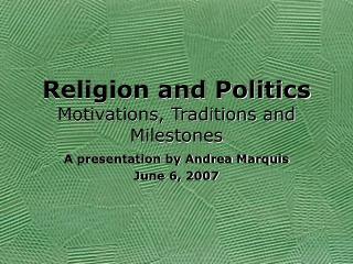 Religion in U.S. Politics