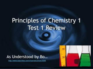 Principles of Chemistry 1 Test 1 Review