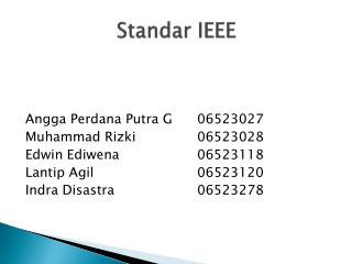 Standar  IEEE