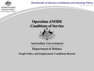 Operation ANODE Conditions of Service