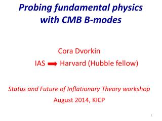 Probing fundamental physics  with CMB B-modes