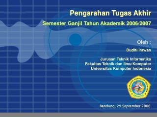 Bandung, 29 September 2006