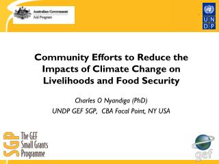 Community Efforts to Reduce the Impacts of Climate Change on Livelihoods and Food Security