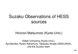 Suzaku Observations of HESS sources