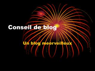 Conseil de blog