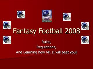 Fantasy Football 2008