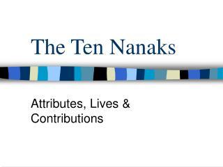 The Ten Nanaks