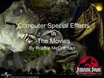 Computer Special Effects