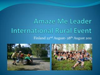 Amaze Me Leader International Rural Event