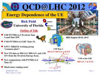 QCD@LHC 2012