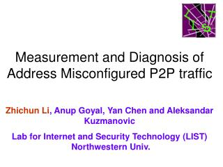 Measurement and Diagnosis of Address Misconfigured P2P traffic