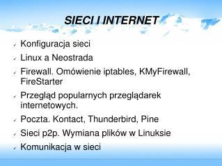 SIECI I INTERNET