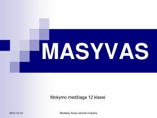 MASYVAS
