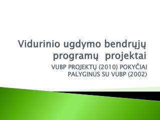 Vidurinio ugdymo bendrųjų  program ų  projektai