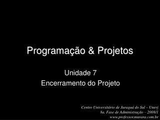 Programação & Projetos