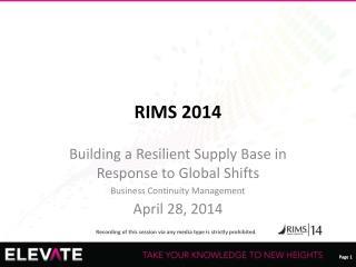 RIMS 2014