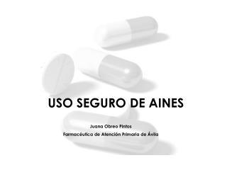 USO SEGURO DE AINES