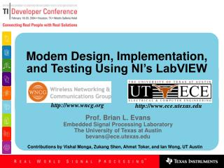 Modem Design, Implementation, and Testing Using NI s LabVIEW