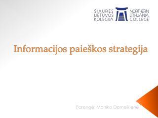 Informacijos paieškos strategija