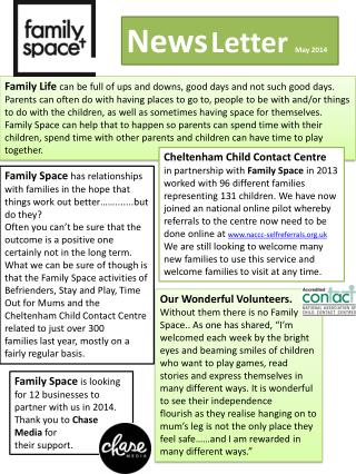 News Letter  May 2014