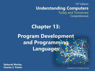 Chapter  13: Program Development and Programming Languages