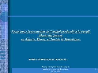 BUREAU INTERNATIONAL DU TRAVAIL