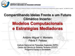 Antônio Miguel V. Monteiro Flávia F. Feitosa Instituto Nacional de Pesquisas Espaciais (INPE)