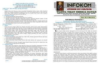 Edisi :  IXL/ 17  Maret  2013